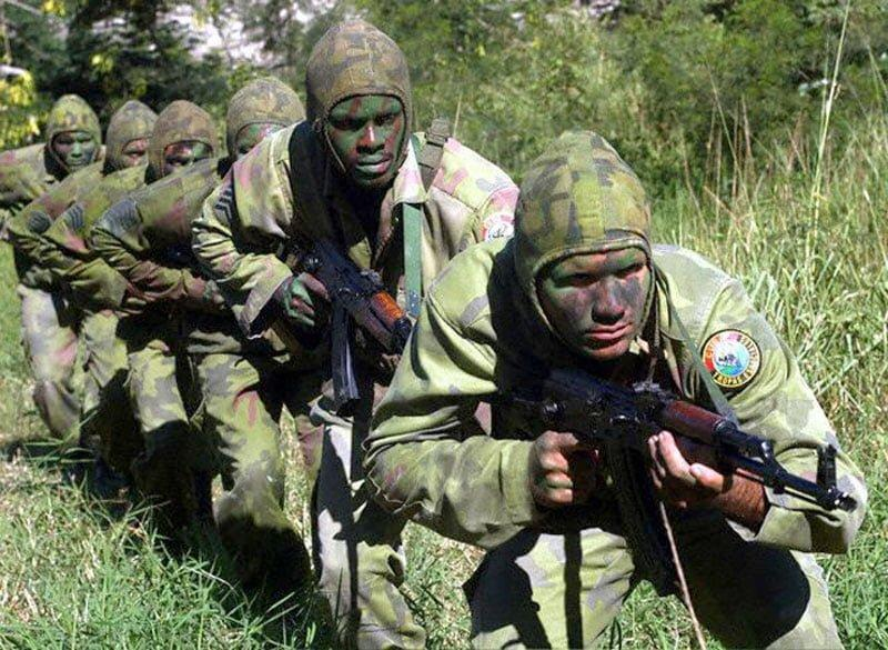 Members of cuban special forces, Commando Tropas Especiales