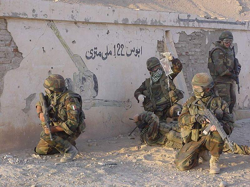 Members of the 4th Alpini Parachutist Regiment during deployement in Afghanistan