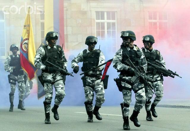 Members of Agrupación de Fuerzas Especiales Antiterroristas Urbanas (AFEUR) - Colombian Special Forces