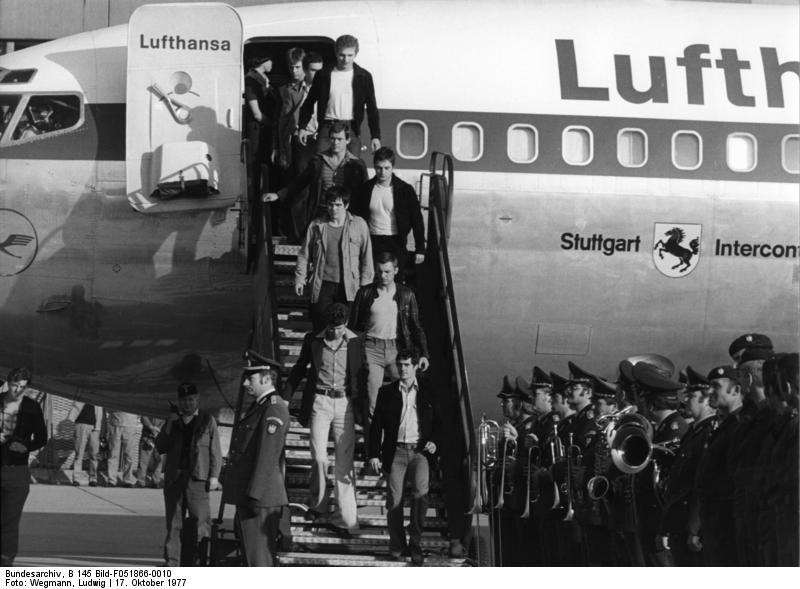 The hijacking of the Lufthansa airplane in 1977 - GSG 9 stormed plane and rescued hostages