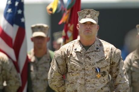 Clifford Wooldridge, US Marines, received Navy Cross Medal