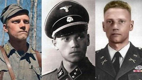 Lauri Törni (Larry Thorne) in his three military uniforms