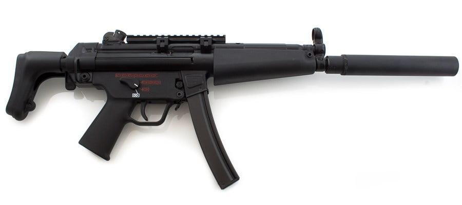 Heckler and Koch MP5 with silencer - Heckler and Koch MP5