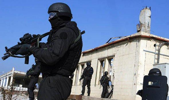 SIU members during the tactical training near their headquarters in Prishtina